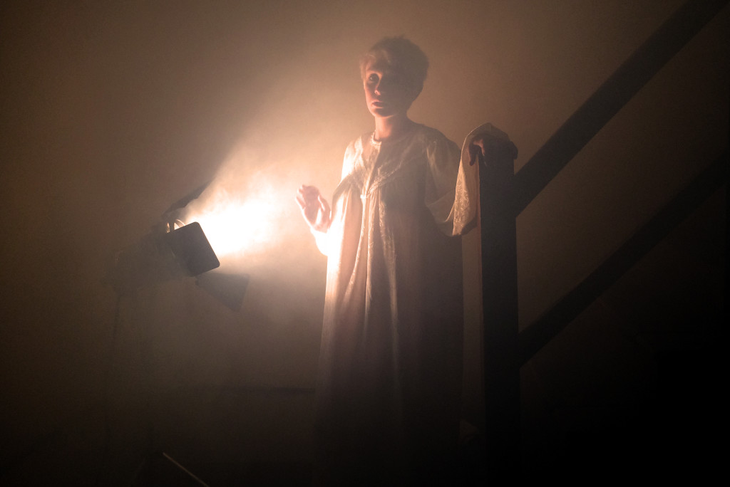Jackie Foggy Stairs